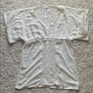 Other - White lace swimsuit coverup